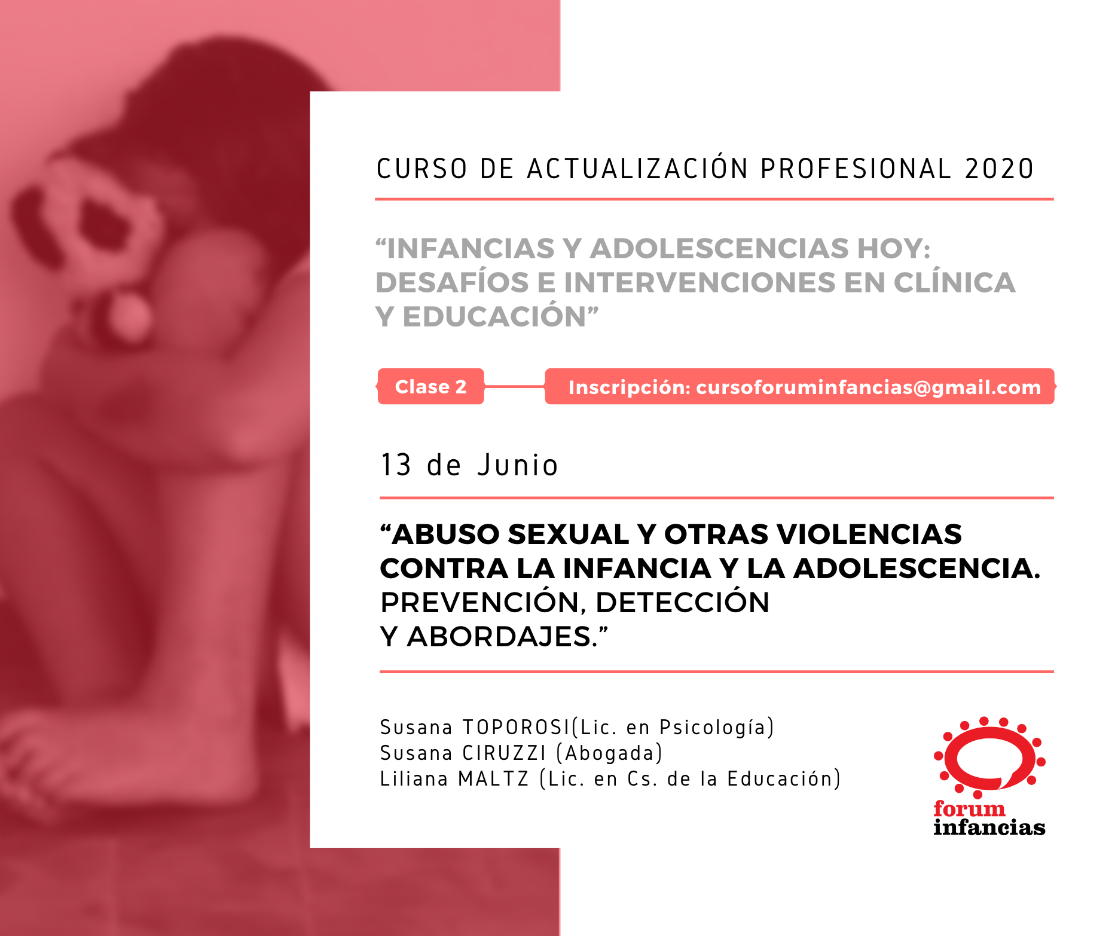 - FLYER Clase 2 JUNIO - CURSO 2020 FORUM INFANCIAS