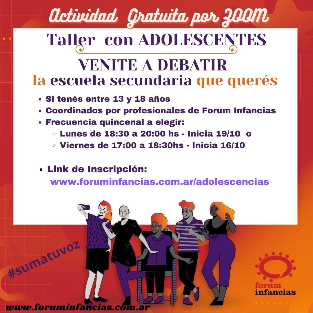 Taller de Debate con Adolescentes
